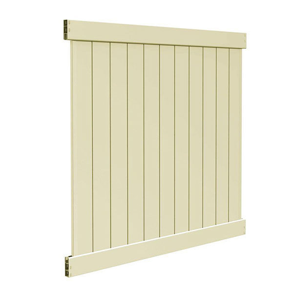 6'H x 6'W T & G Privacy Section Tan