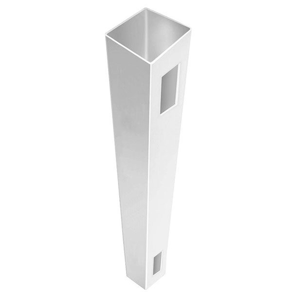 """5"""" x 5"""" x 96"""" T&G Privacy End Post White"""